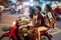 Fotografia: Typická doprava v thajsku, fotograf: Marek Duranský, tagy: thajsko, motorka